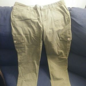 Army green skinny jeans  size 17